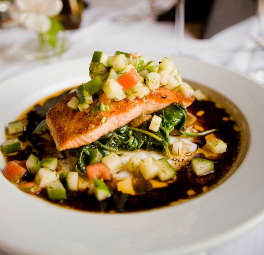 Salmon at new Sarasota restaurants