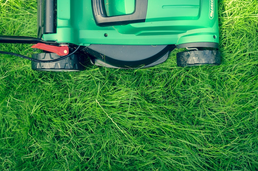 Mowing the lawn at a home or a condo