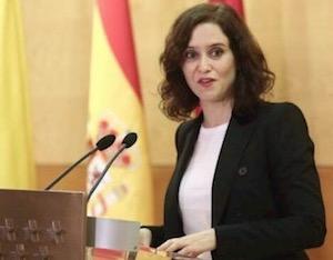 Imagen de la presidenta de Madrid, Isabel Díaz Ayuso