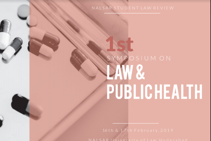 1st NSLR Symposium on Law and Public Health at NALSAR