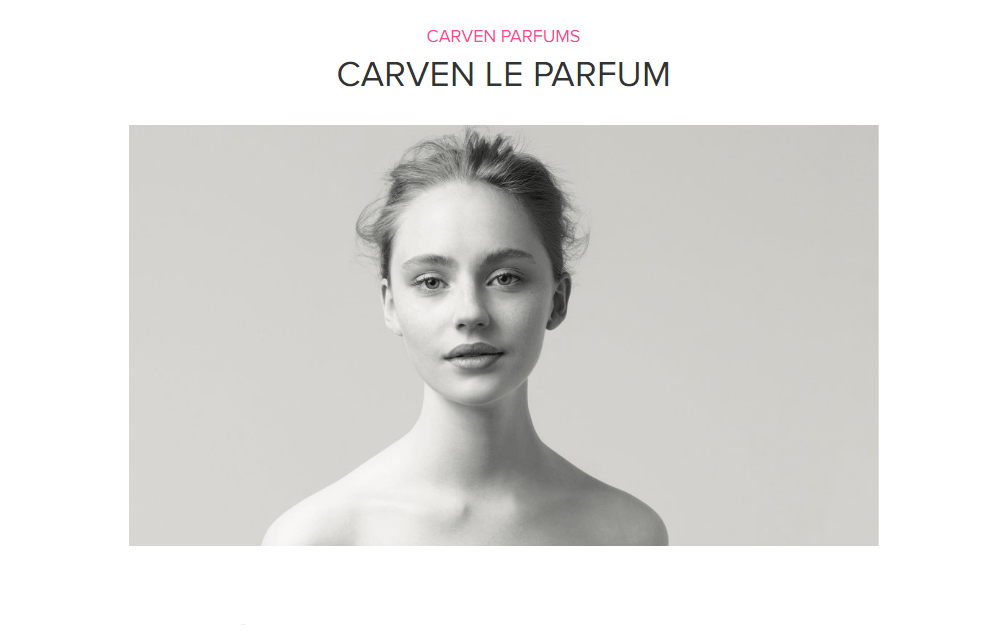 Carven Le Parfum by Carven Parfums ad