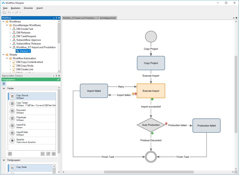 Workflow im Workflow Designer