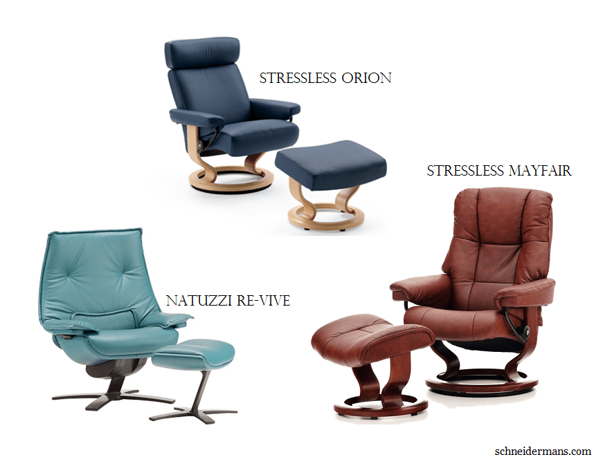 Schneidermans Stressless and ReVive Chairs