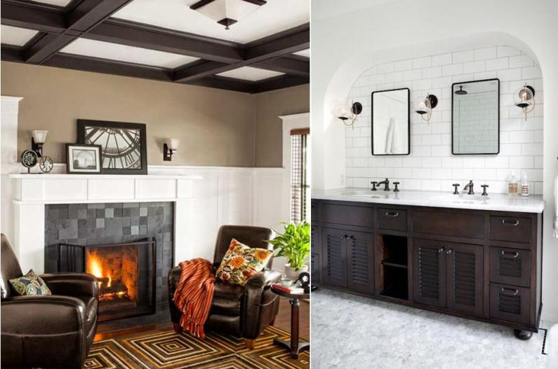 Decorating With White - Make warm colors and dark wood pop