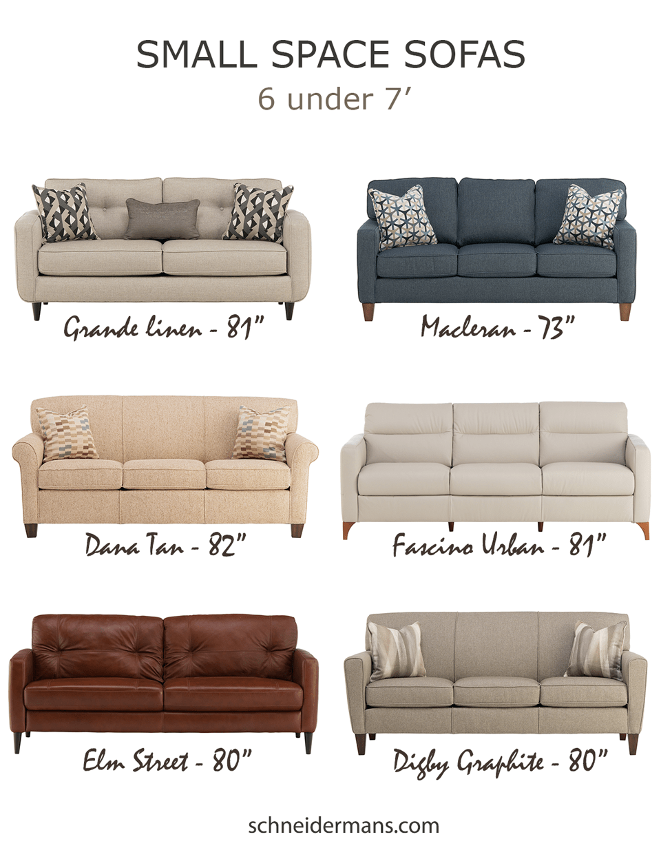 furnishing small spaces - 6 great small sofa options under 7 feet