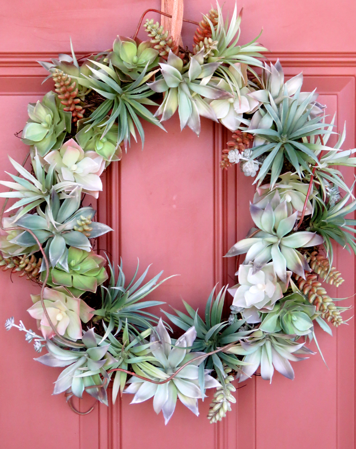 Spring Door Decor Inspiration + A Faux DIY Succulent Wreath (3 Ways). Love these ideas! Great blog with lots of ideas, tips and inspiration on how to decorate your home.