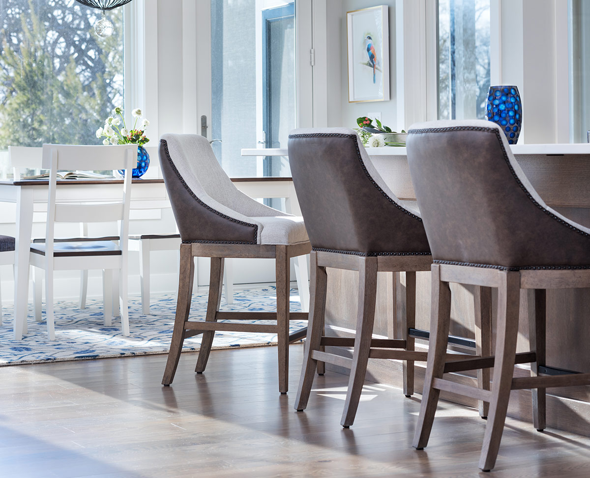 bar stool height - new traditional bar stools with a mixture of oak and fabric upholstery with linen and leather looks