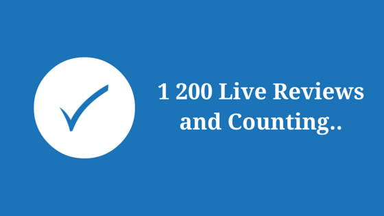 1 200 Live Reviews