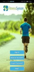 1. Schritt Fitnesssyncer Anmeldung