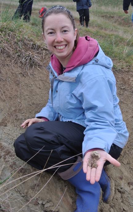Liz Martin-Silverstone really digs fossils.