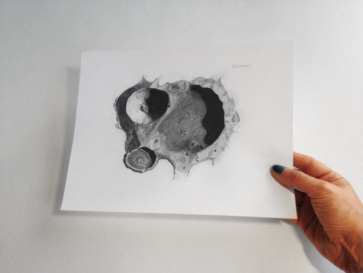 Resnik crater print by Bettina Forget