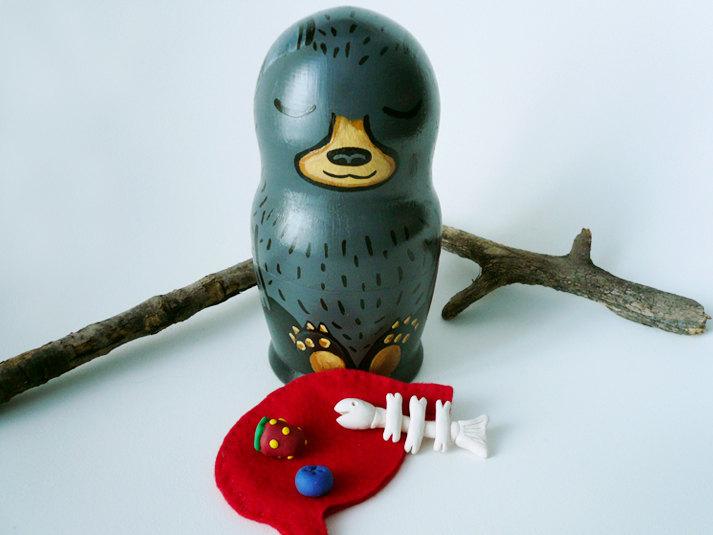 Black Bear nesting toy by Beautiful Biology