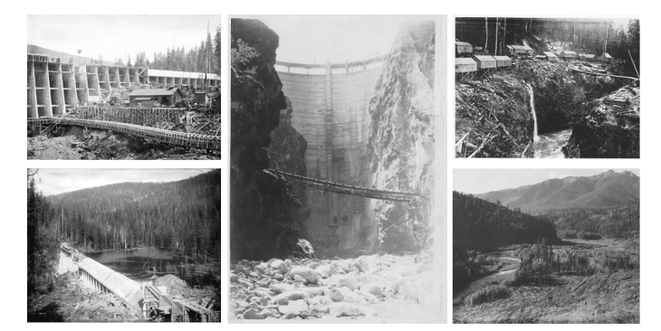 Jordan River Dam Construction 1910