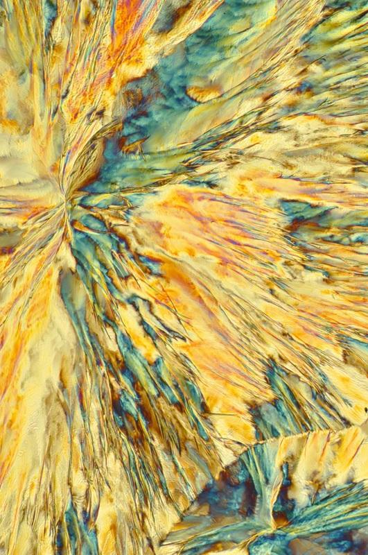 Crystal microscopy of aspirin by Vance Williams.
