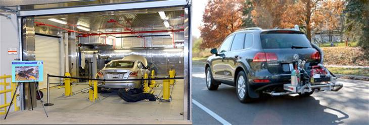 VWs undergoing emissions testing