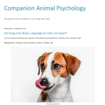 Companion Animal Psychology