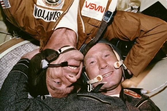 The Apollo-Soyuz Test Project: An Orbital Partnership Is Born. © NASA