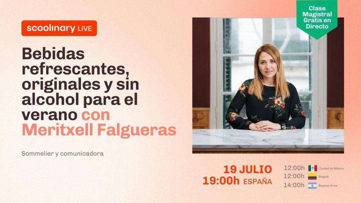 Clase Magistral con Meritxell Falgueras: Bebidas refrescantes, originales y sin Alcohol para el verano
