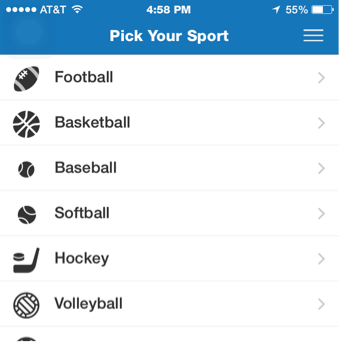 app-pick sport