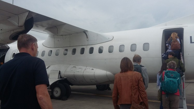 The mini plane to Orkney