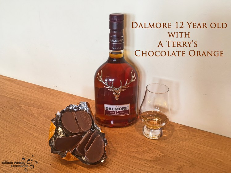 Scotch Whisky Experience: Dalmore 12 year old and a Terry's Chocolate Orange