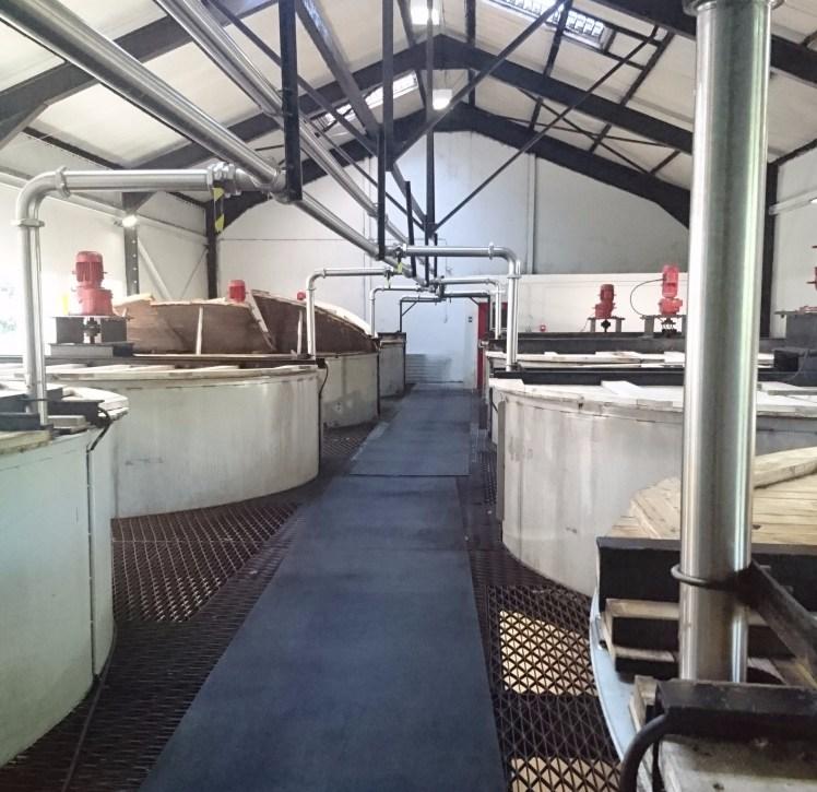 Deanston Distillery washbacks
