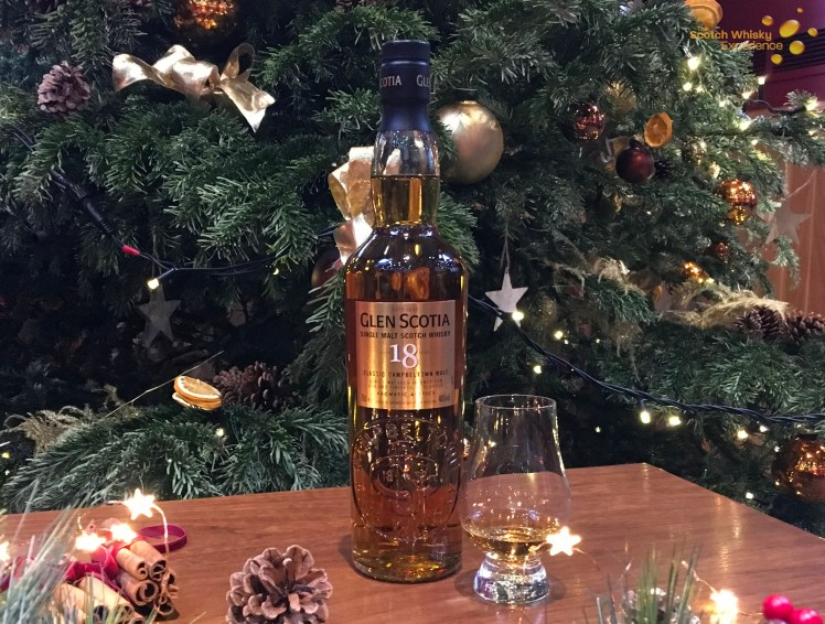 Glen Scotia 18 year old is the Campbeltown whisky for December's whiskies of the month at the Scotch Whisky Experience