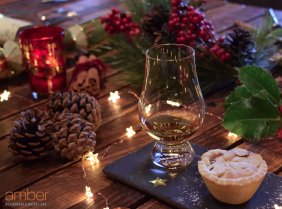 Whisky and mince pie for Christmas