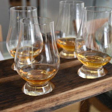 Scotch whisky flight at the Scotch Whisky Experience