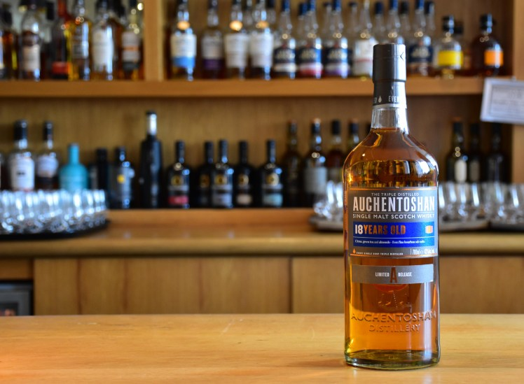 Auchentoshan 18 year old  - whiskies available at the Scotch Whisky Experience, Edinburgh