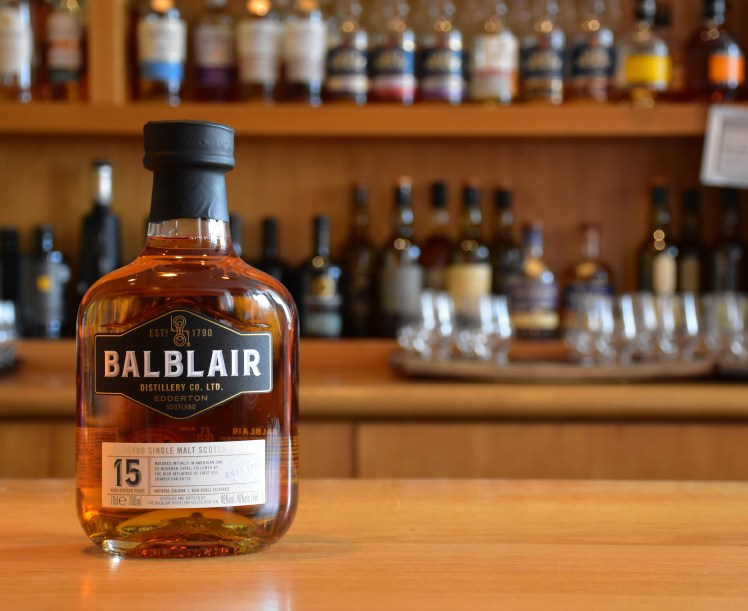 Balblair 15 year old - whiskies available at the Scotch Whisky Experience, Edinburgh