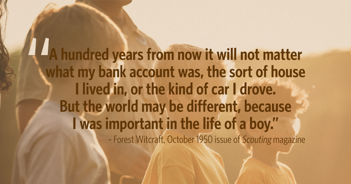 Boy Scout Essay With Quotes: Forest Witcraft Quote First Appeared In Scouting Magazine