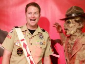 """From the """"Take A Photo With a Zombie Arrowman"""" booth hosted by Coosa Lodge at the 2013 SR-9 Section Conclave."""