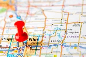 Flint-Michigan-on-map