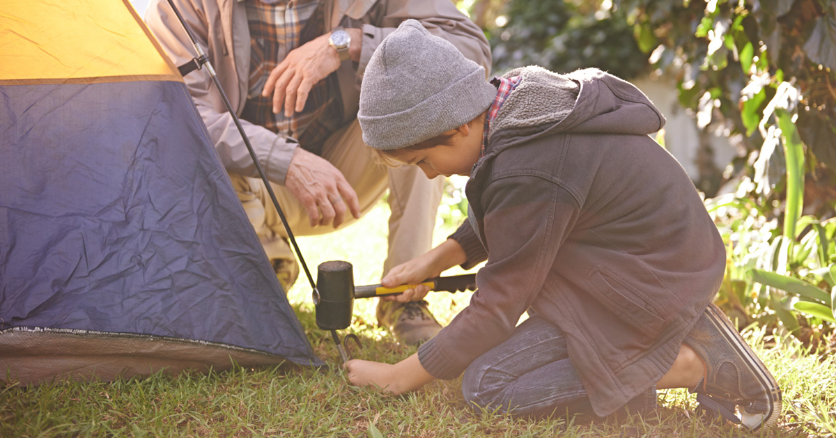 Image result for setting up a tent