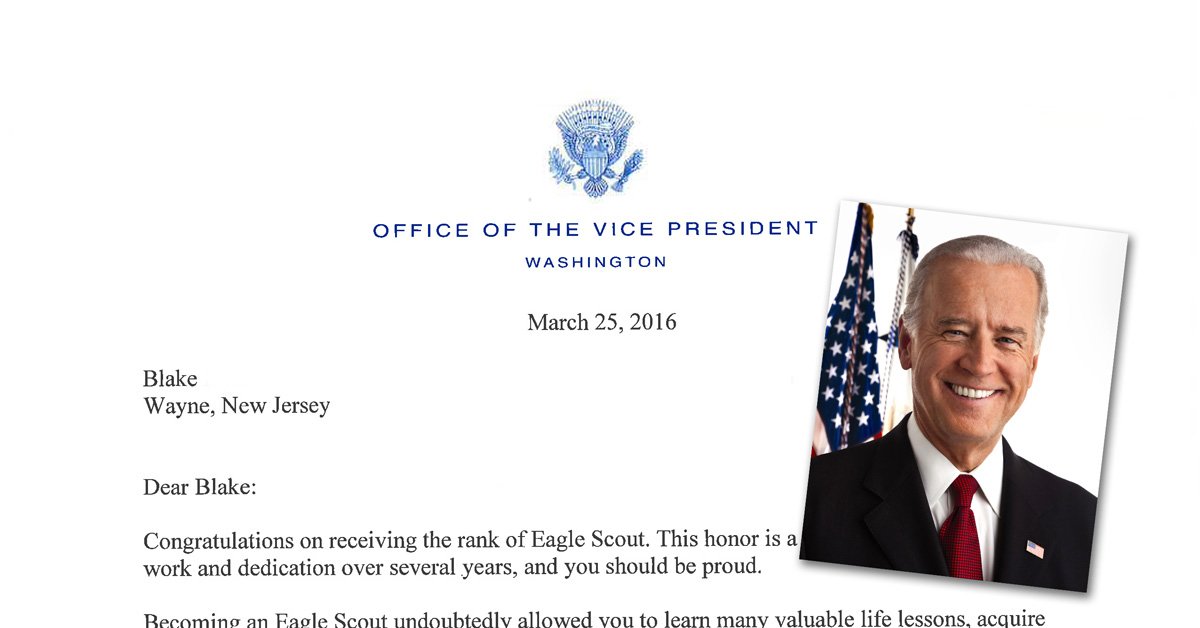 Read vice president joe bidens letter to an eagle scout altavistaventures Images