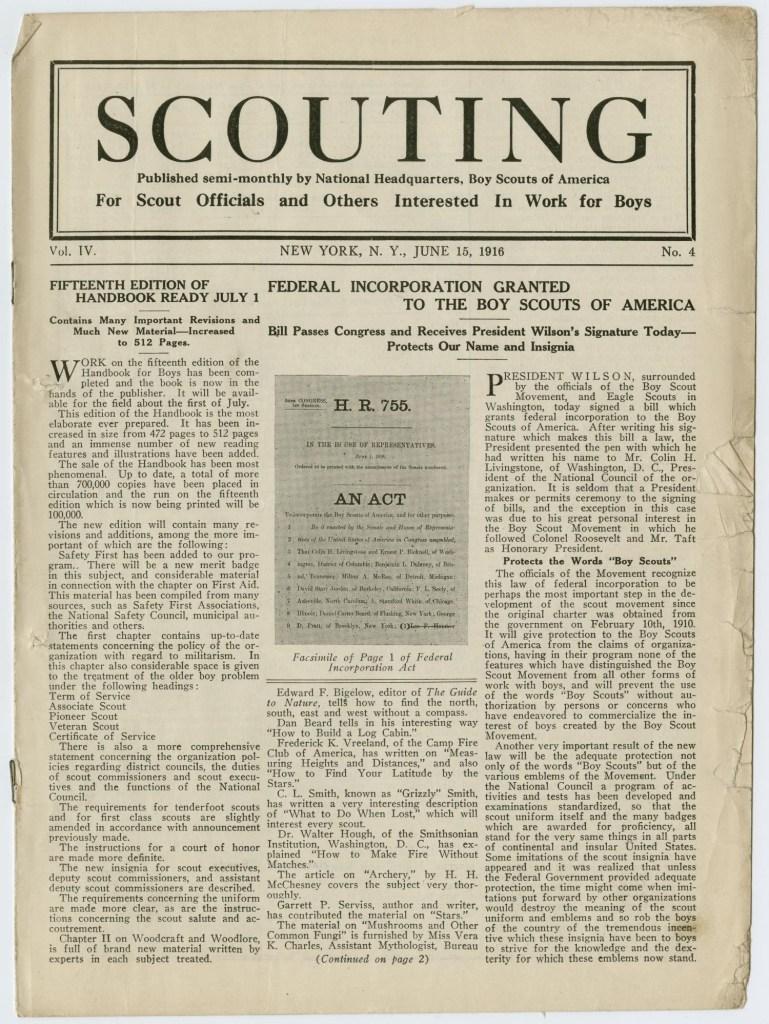 Scouting magazine June 15 1916 - 1