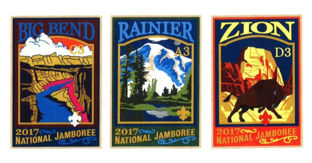 2017 National Jamboree subcamp patches