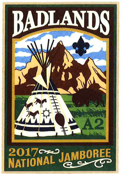 Badlands 2017 Jamboree subcamp patch