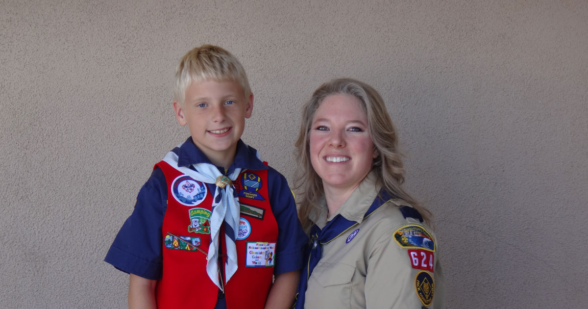 in the darkest day for their family scouting stepped in