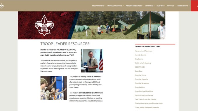 Troop Leader Resources Is A One Stop Shop For Scout Troops