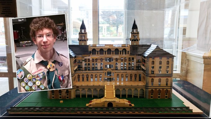 Eagle Scout creates Lego models of historic hotels for Eagle ...