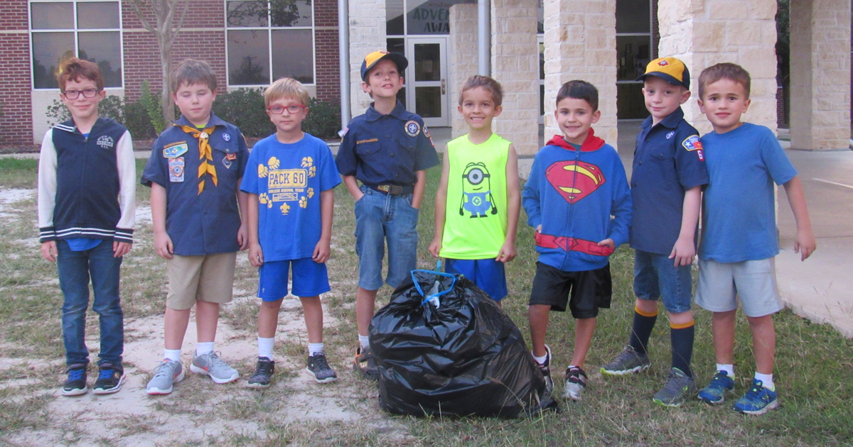 These super Scouts joined Craig's Creek Crew and cleaned up their communities
