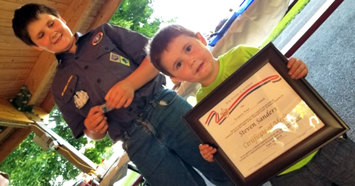 Cub Scout springs into action — twice — to save family members' lives