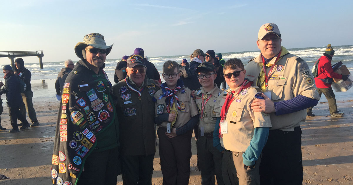 Scouts honor 75th anniversary of D-Day at Normandy Camporee 2019