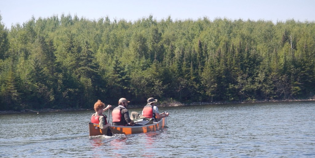 Mahn and Scouts paddling at Northern Tier