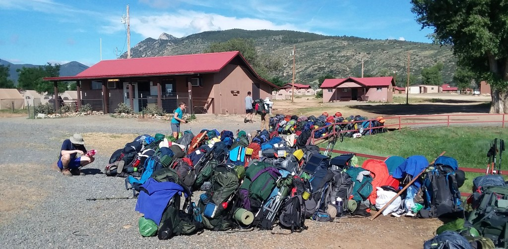A pack line at Philmont
