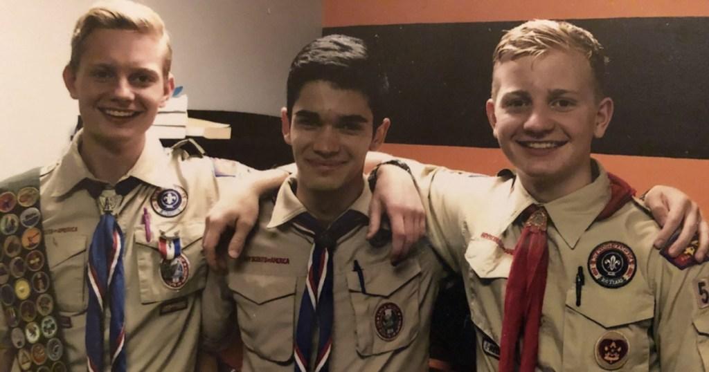 Luke (center) with Austin (left) and Jeffrey.