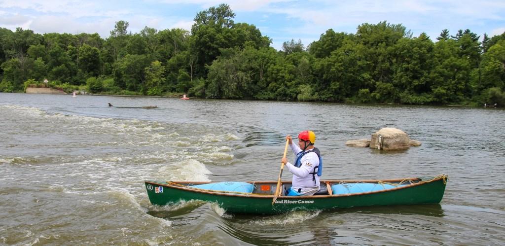 Joseph canoeing.