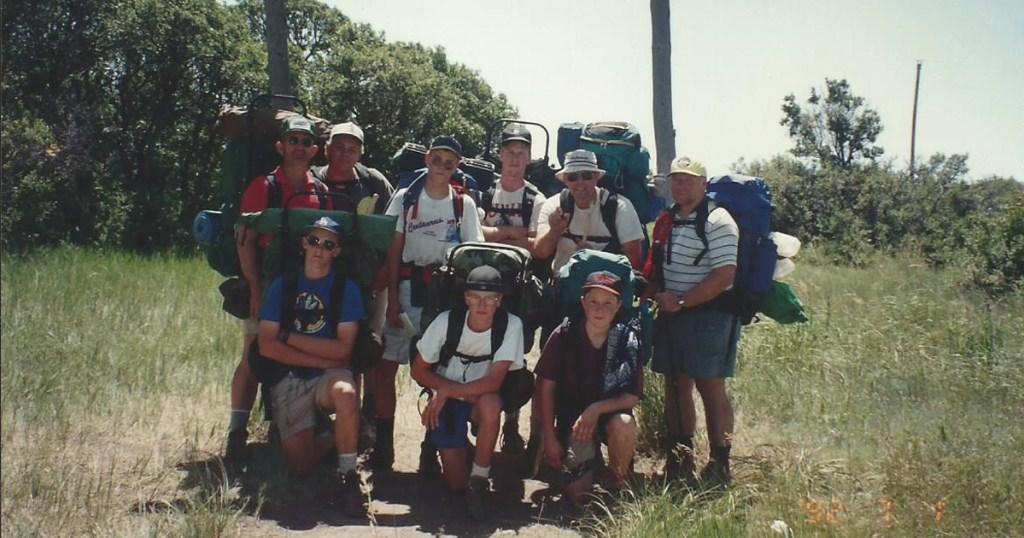 Derrick's June 1992 Philmont trek.